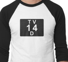 TV 14 D (United States) black Men's Baseball ¾ T-Shirt