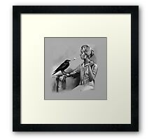 Helper Bird - Value Study Framed Print