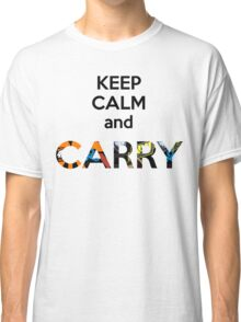E Sports Keep Calm and Carry Classic T-Shirt