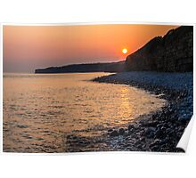 Sunset Special down at Llantwit Major Beach, Wales, UK Poster