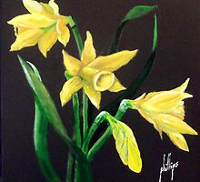 Daffodils, Nature's Trumpets by Jim Phillips