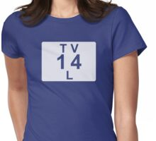 TV 14 L (United States) white Womens Fitted T-Shirt