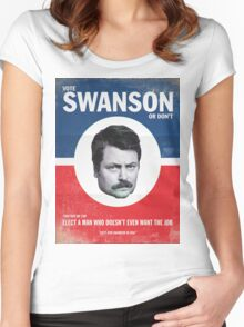 Vote For Ron Swanson Women's Fitted Scoop T-Shirt