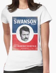 Vote For Ron Swanson Womens Fitted T-Shirt