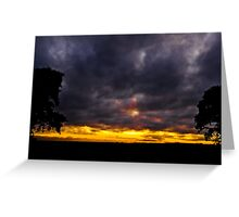 Sweet sunset, angry clouds Greeting Card