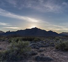 Dusk at White Sands Missile Range by Richard Thelen