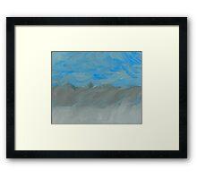 Flooding at Lone Pine Framed Print
