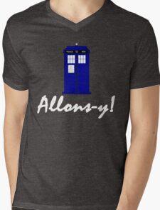 """""""Allons-y!"""" Mens V-Neck T-Shirt"""