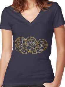 Wibbly Wobbly Timey Wimey - Circular Gallifreyan Women's Fitted V-Neck T-Shirt