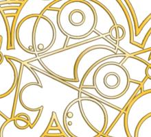 Wibbly Wobbly Timey Wimey - Circular Gallifreyan Sticker