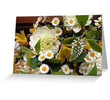 Yellow and White Bouquet  Greeting Card