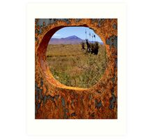 A Rustic View of Mount Violet Art Print