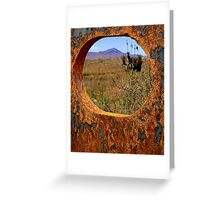 A Rustic View of Mount Violet Greeting Card