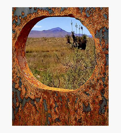 A Rustic View of Mount Violet Photographic Print