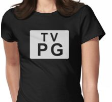 TV PG (United States) white Womens Fitted T-Shirt
