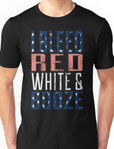 I Bleed Red White And Booze Unisex T-Shirt