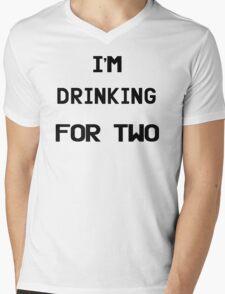 I'm Drinking For Two Mens V-Neck T-Shirt