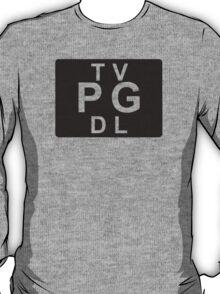 TV PG DL (United States) black T-Shirt