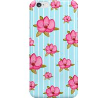 Vintage candy stripes floral print case iPhone Case/Skin