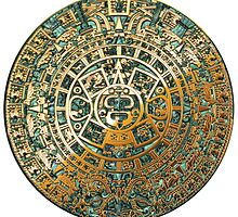 Ancient Mayan (Aztec) Calendar (Jade & Gold)  by Captain7