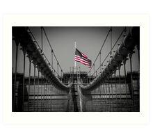 Sorrow at Brooklyn Bridge Art Print