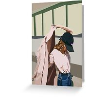 Pink Coat Greeting Card