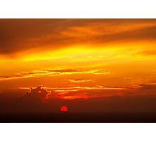 Santorini Sunset Photographic Print
