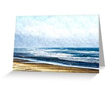 Summertime Oceanside Greeting Card