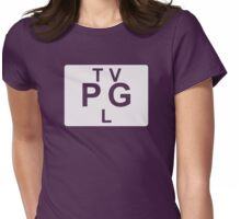 TV PG L (United States) white Womens Fitted T-Shirt