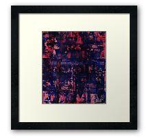 red blue study Framed Print