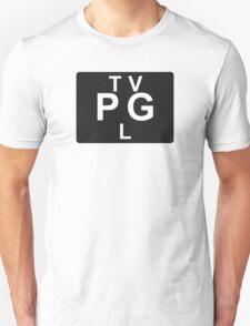 TV PG L (United States) black T-Shirt