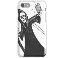Death Takes A Selfie in the cutout style popular with the kids. iPhone Case/Skin