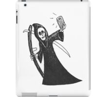 Death Takes A Selfie in the cutout style popular with the kids. iPad Case/Skin