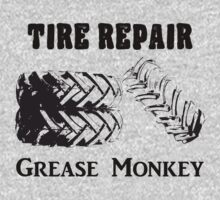 Tire Repair Grease Monkey T-Shirts & Hoodies by seazerka