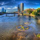 Grand River, Grand Rapids, MI by Rocco Goff