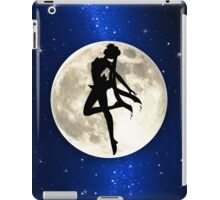 Sailor Moon Silhouette in front of Realistic Moon iPad Case/Skin