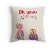 Die Hard with Finn and Jake Throw Pillow