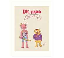 Die Hard with Finn and Jake Art Print
