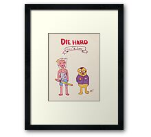 Die Hard with Finn and Jake Framed Print
