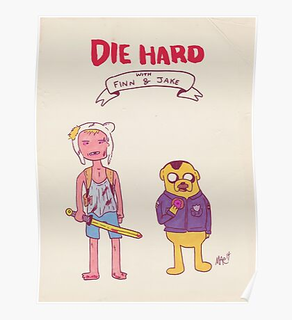 Die Hard with Finn and Jake Poster