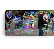 Bubbles in the park Canvas Print