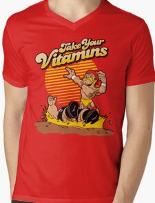 Take Your Vitamins Mens V-Neck T-Shirt