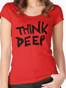 Hitchhiker's Guide to the Galaxy - Think Deep Women's Fitted Scoop T-Shirt