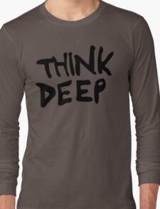 Hitchhiker's Guide to the Galaxy - Think Deep Long Sleeve T-Shirt