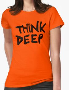 Hitchhiker's Guide to the Galaxy - Think Deep Womens Fitted T-Shirt