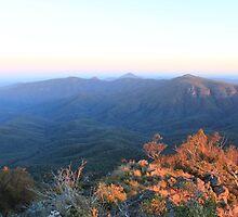 Sun rise over Mt Kaputar 2 by RickLionheart