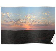 Outback Sunset - Australia   Poster