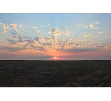 Outback Sunset - Australia   Photographic Print