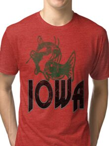 FISH IOWA VINTAGE LOGO Tri-blend T-Shirt