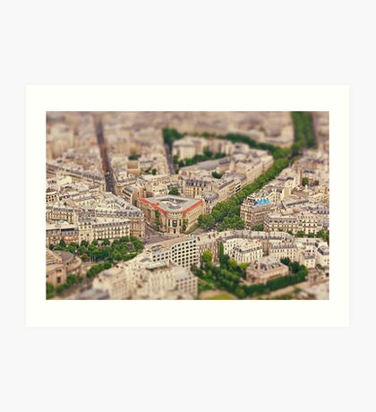Paris or Just a Model? Art Print